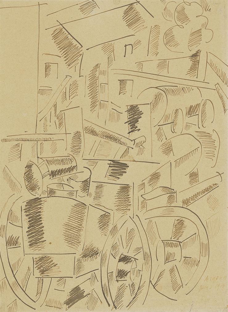 Fernand Leger-Paysage De Verdun, Argonne-1915