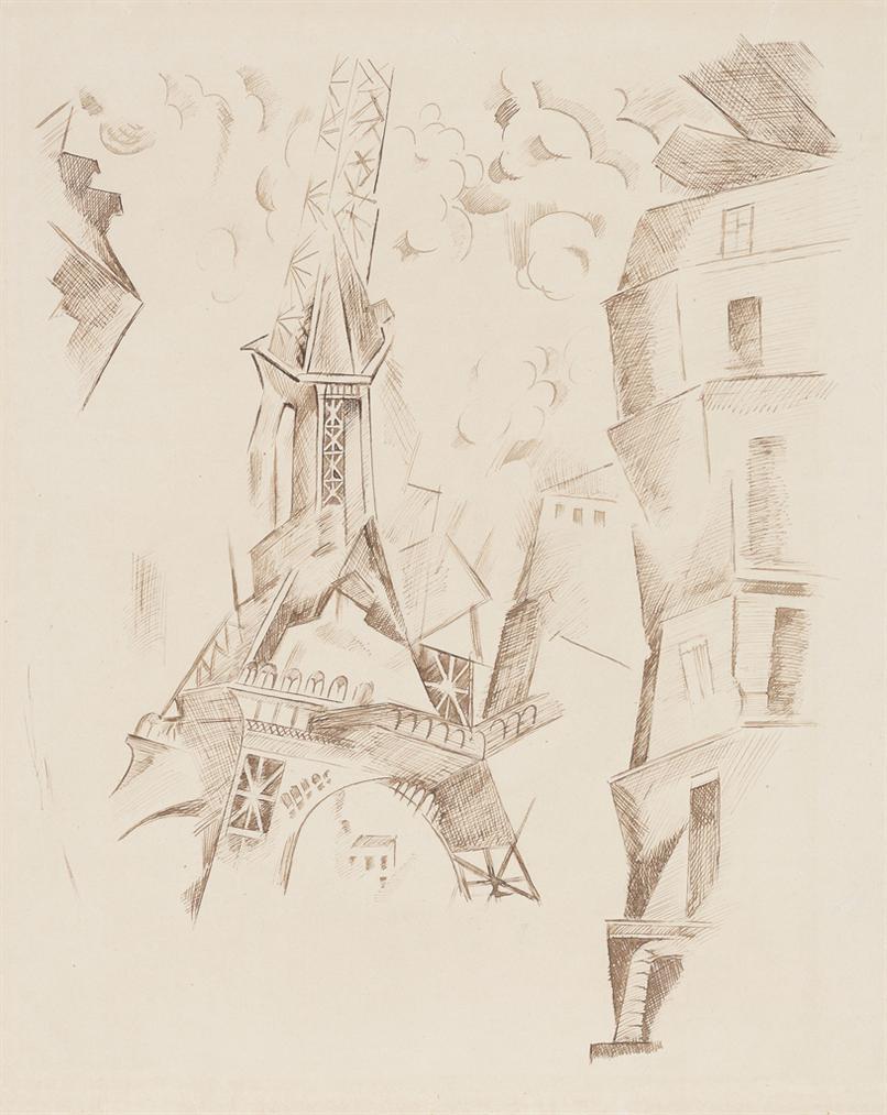 Robert Delaunay-La Tour Eiffel-1911