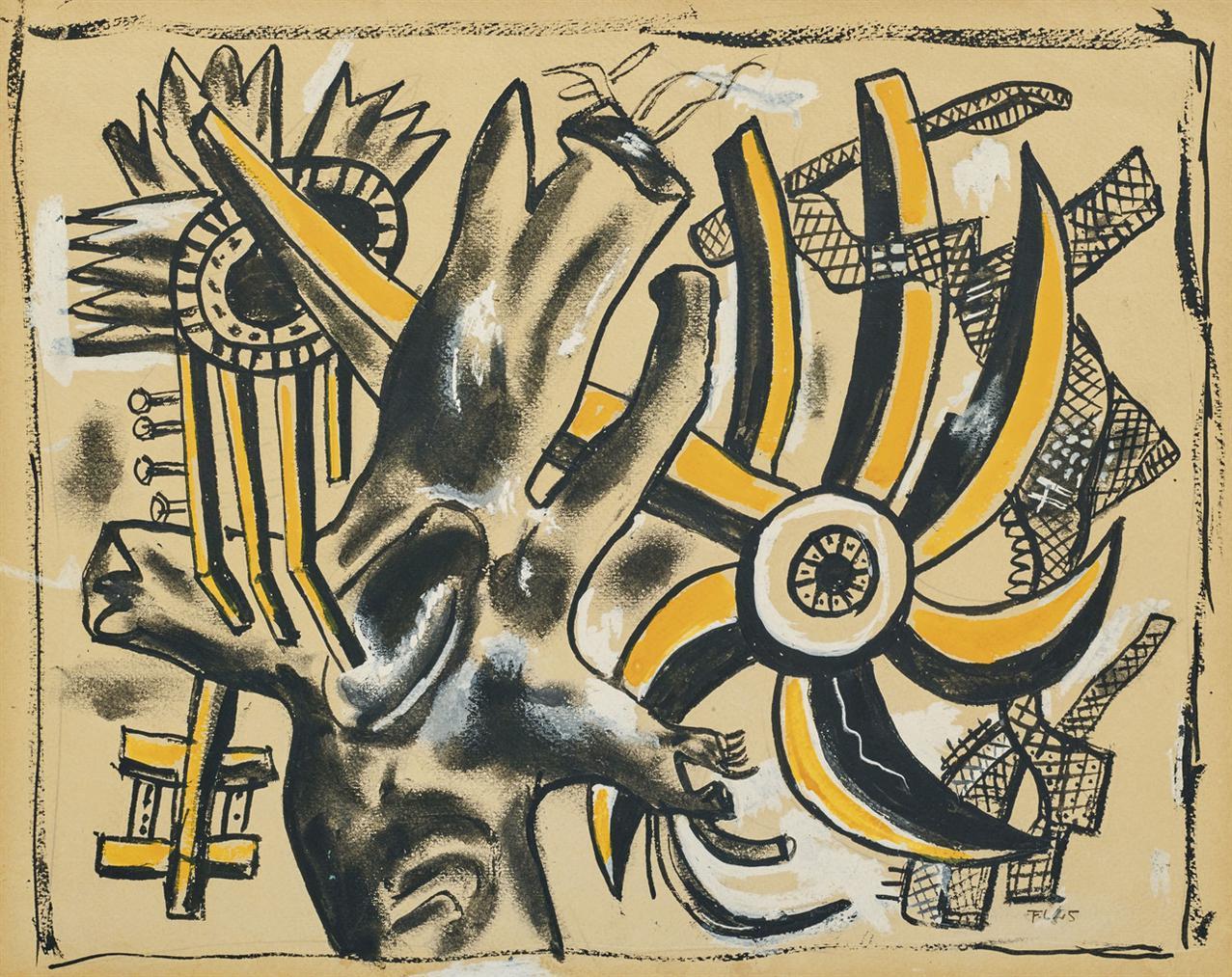 Fernand Leger-Arbre Et Fleur-1945