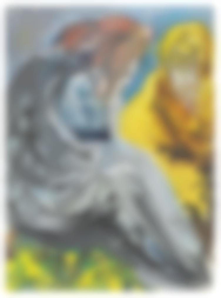 Salvador Dali-Deux Vieux Avec Des Barbes, Lune Jaune, Lautre Brune-1966