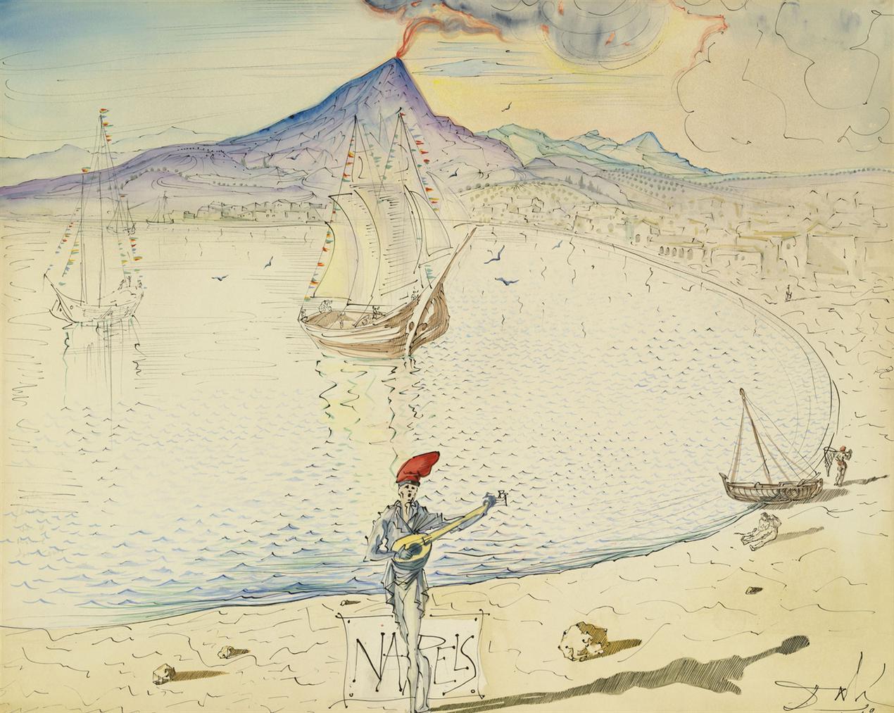 Salvador Dali-Naples-1949