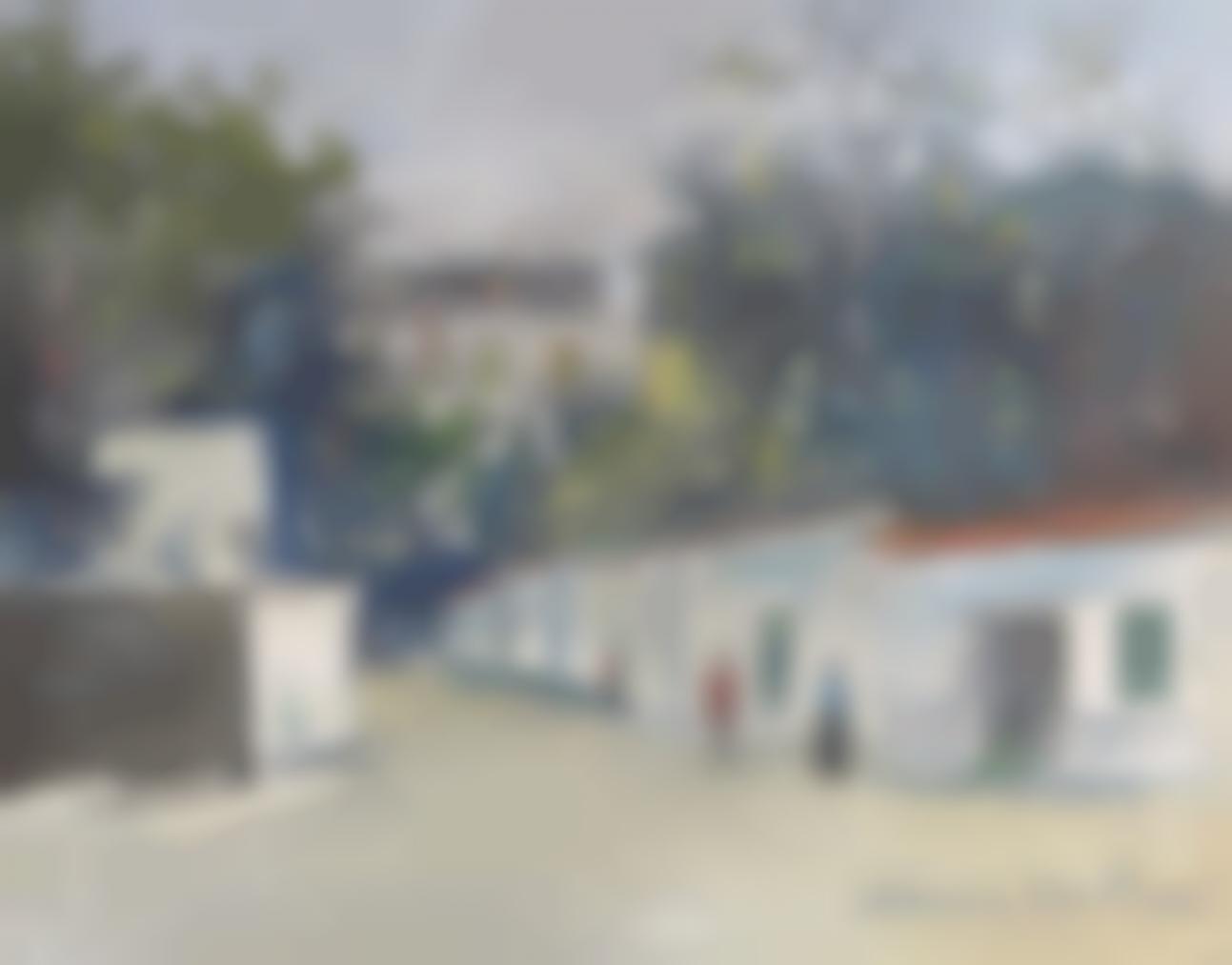 Maurice Utrillo-Rue A Montmartre-1919