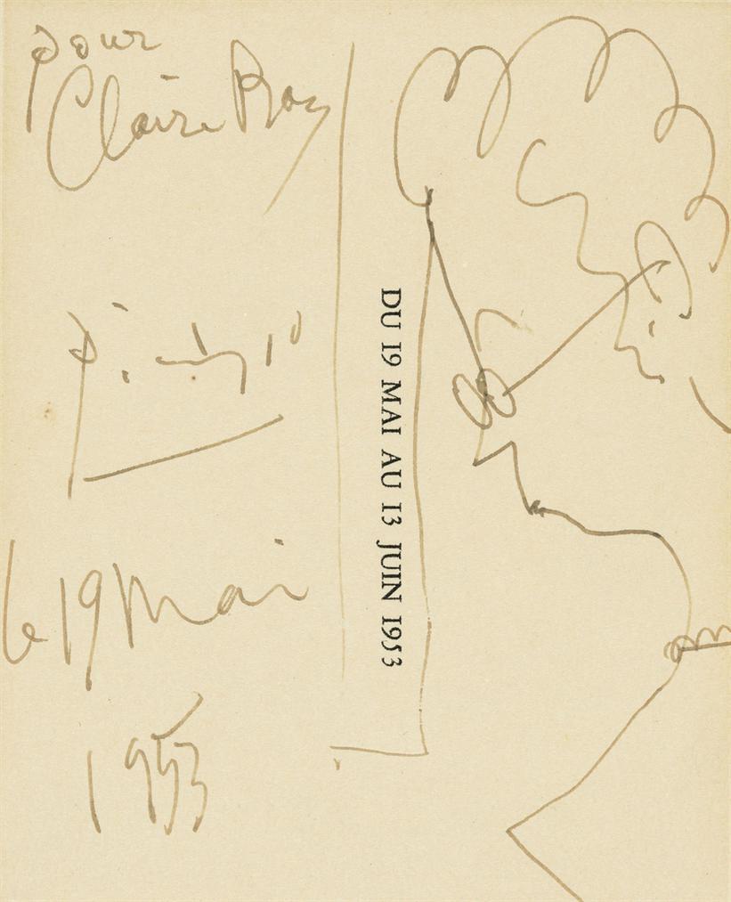 Pablo Picasso-Portrait De Femme (Claire Roy)-1953