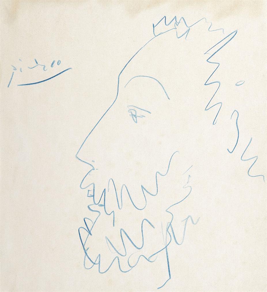 Pablo Picasso-Tete Dhomme De Profil-