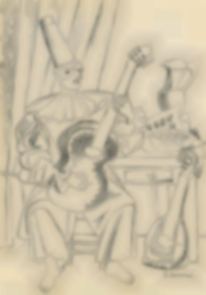 Gino Severini-Pierrot Musicista-1943