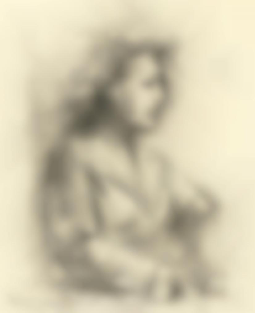 Giacomo Manzu-Studio Per Grande Ritratto Di Signora-1947