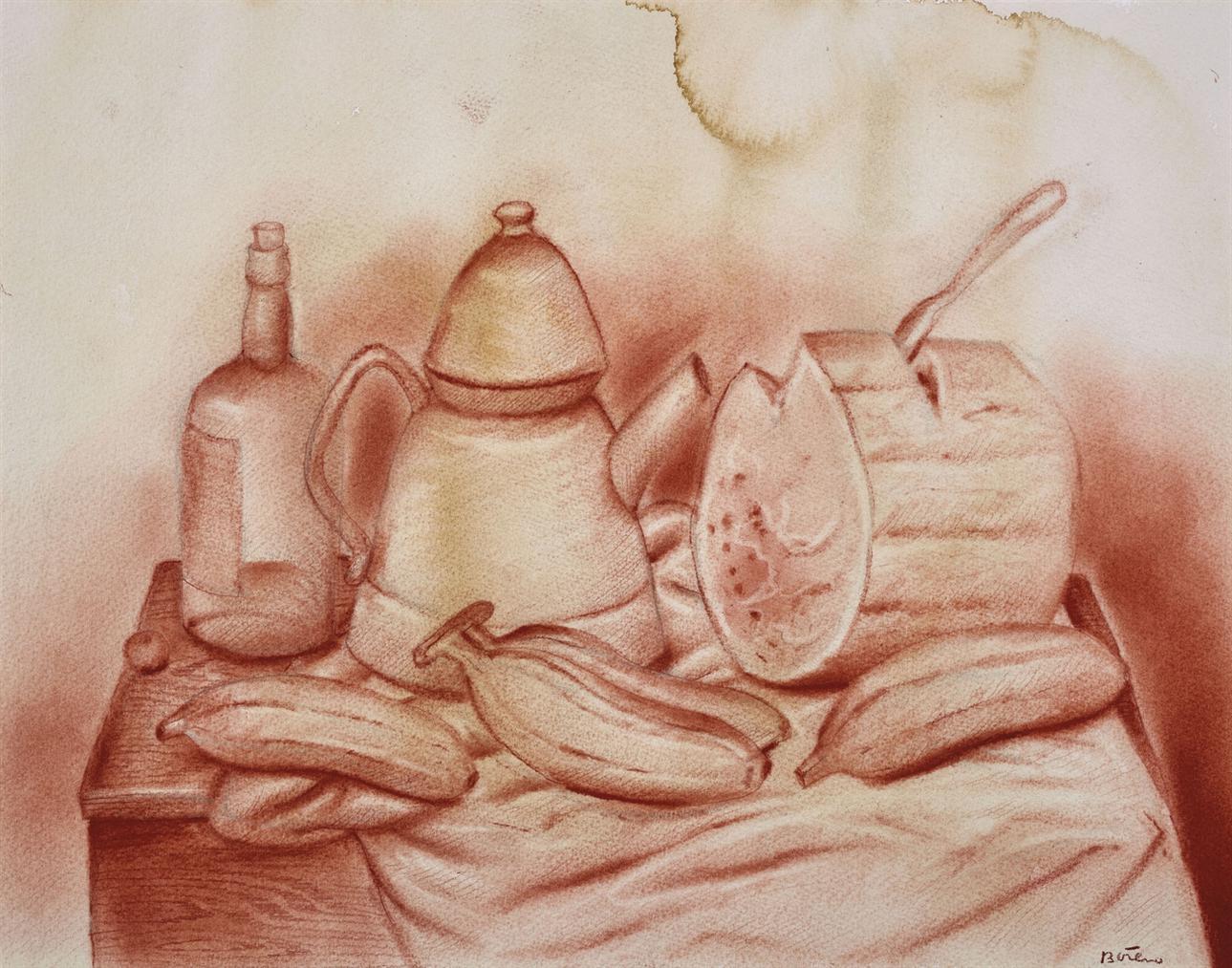 Fernando Botero-Still Life With Watermelon-1985