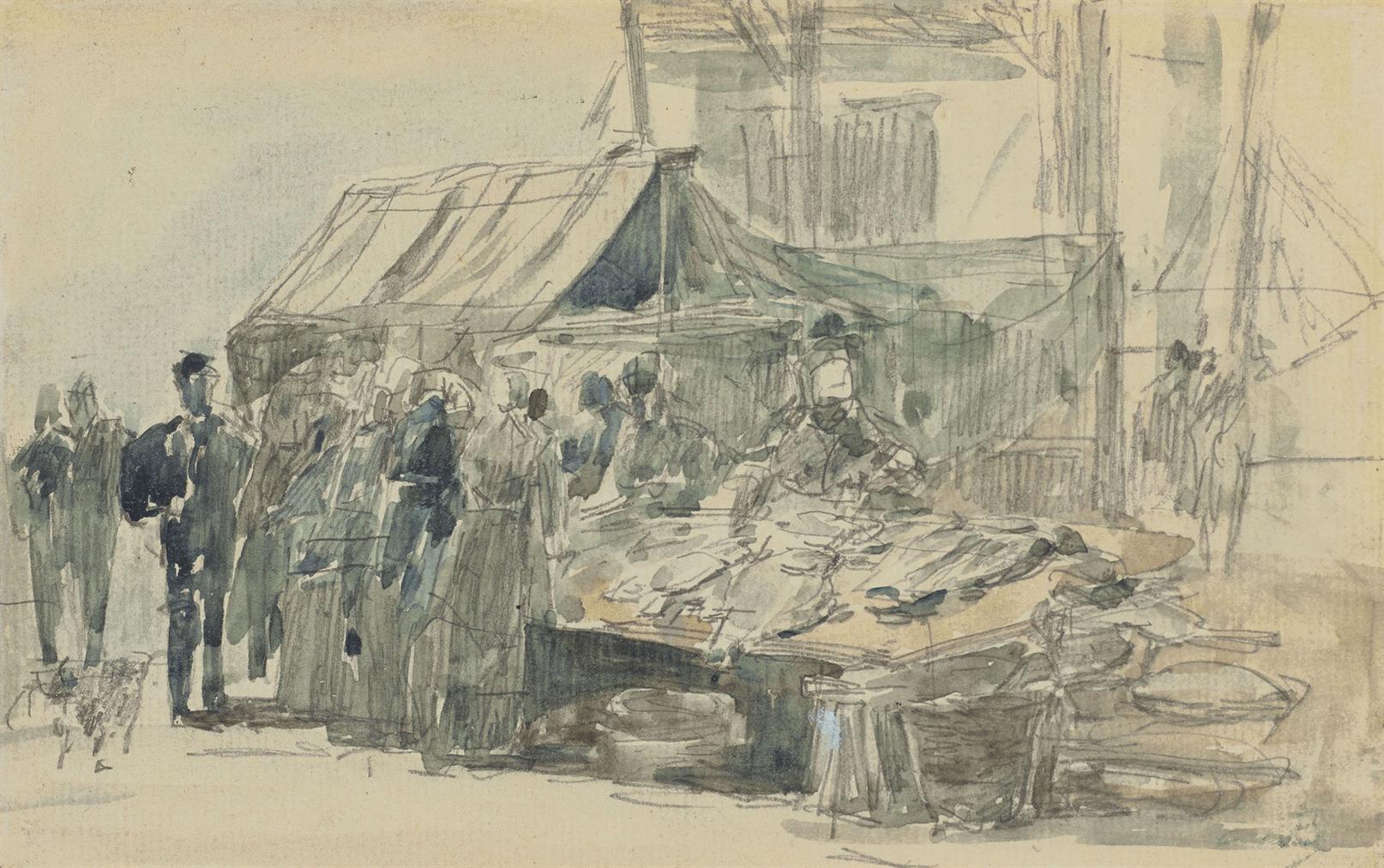 Eugene Louis Boudin-Le Marche Aux Poissons-