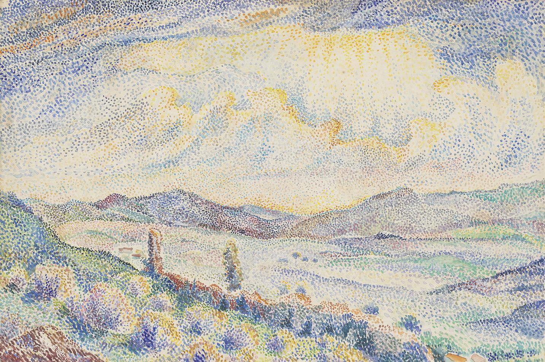 Hippolyte Petitjean-Paysage Montagneux-