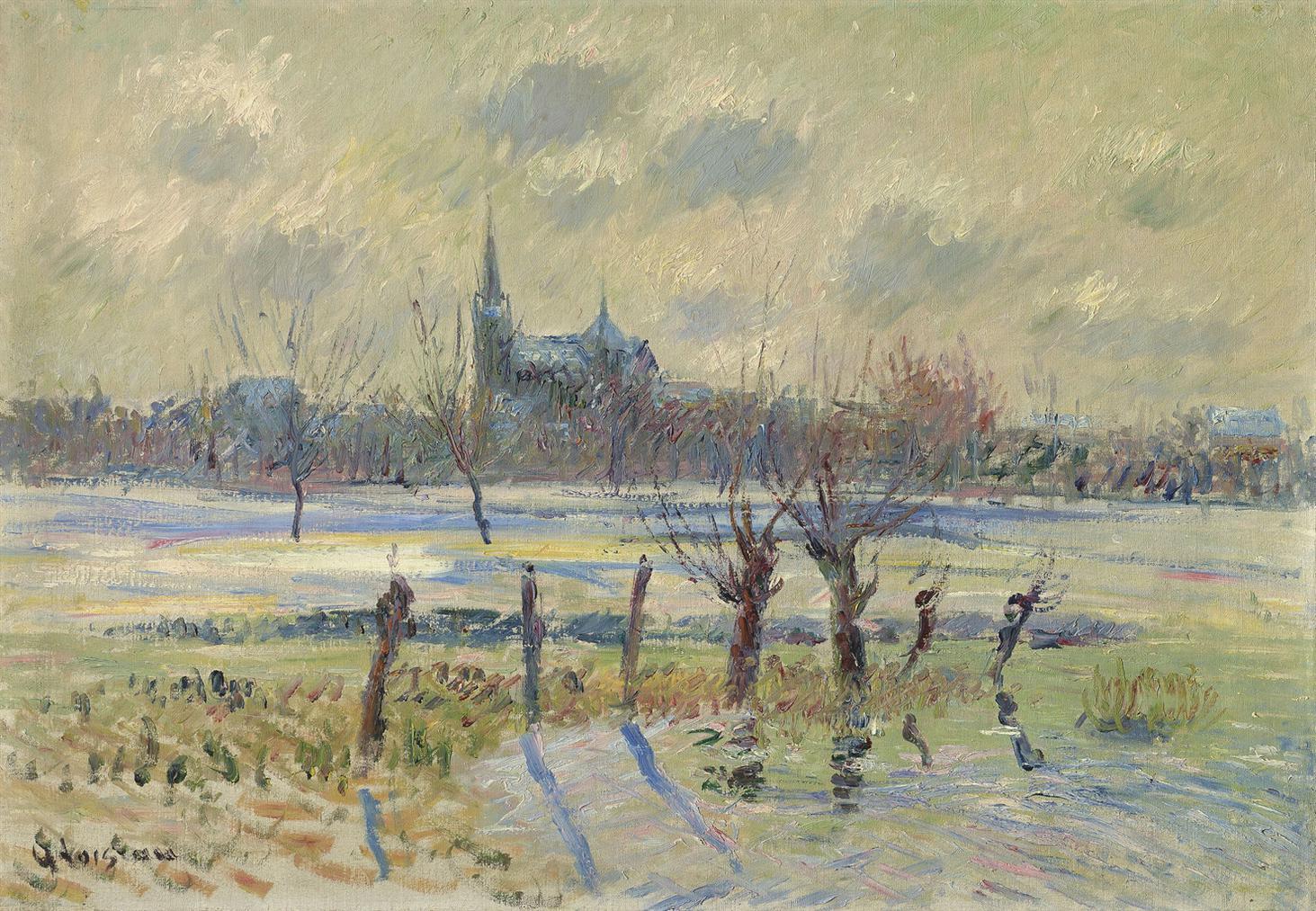 Gustave Loiseau-La Prairie A Reze Pres De Nantes-1909