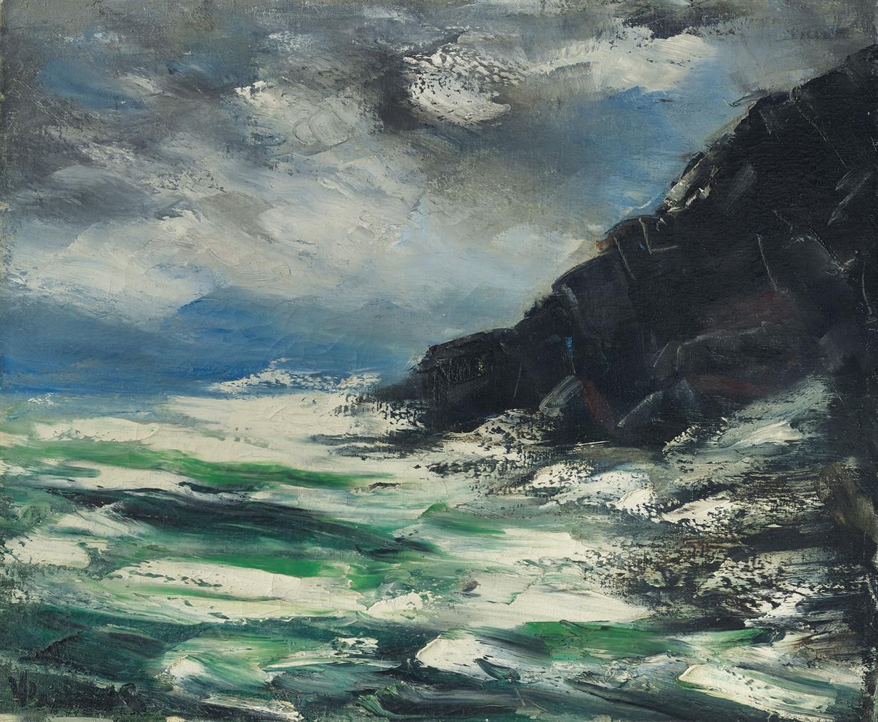 Maurice de Vlaminck-La Pointe Du Raz, Bretagne-1950