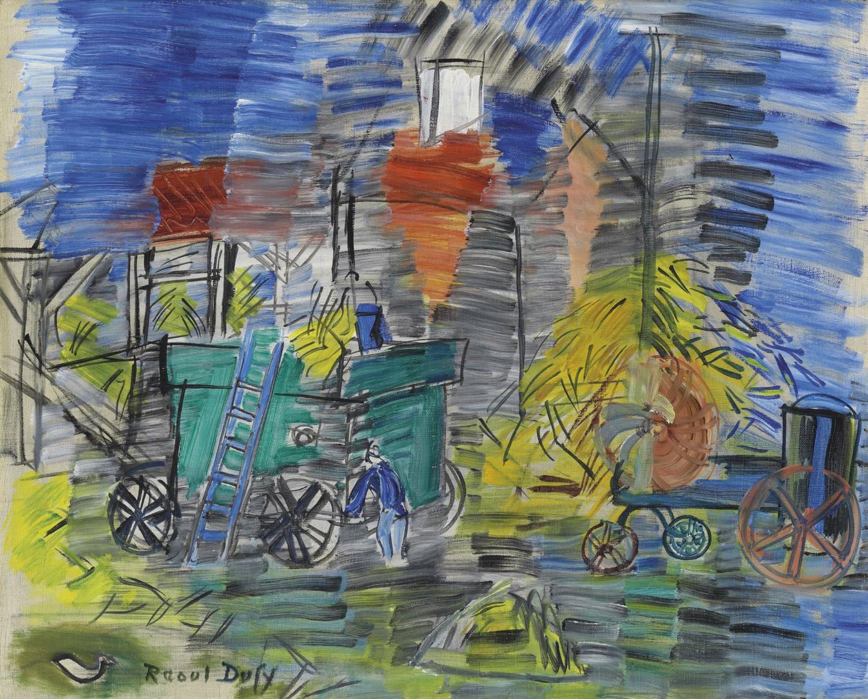 Raoul Dufy-Le Depiquage Bleu-1948