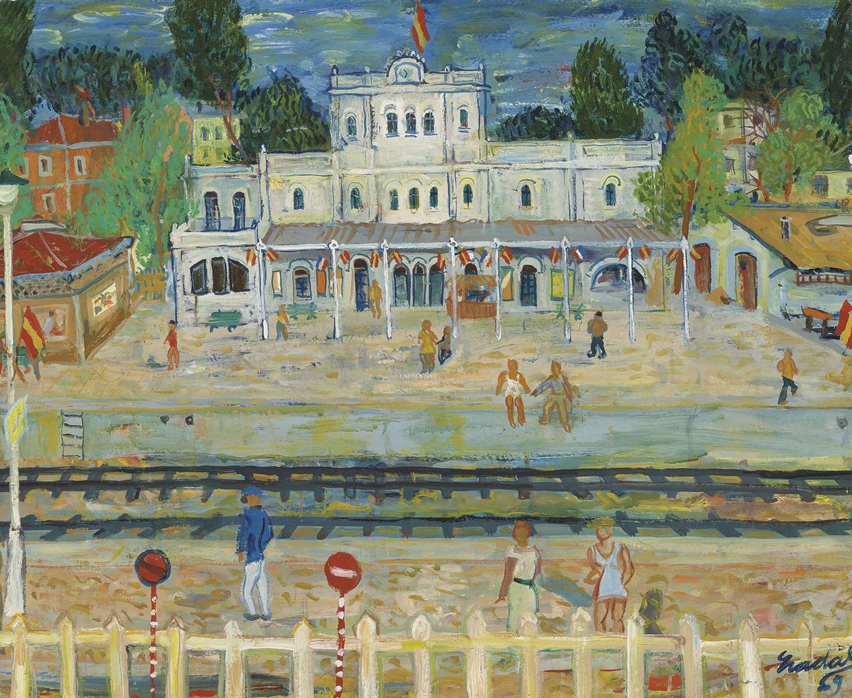 Carlos Nadal-Estacion De Sitges-1969