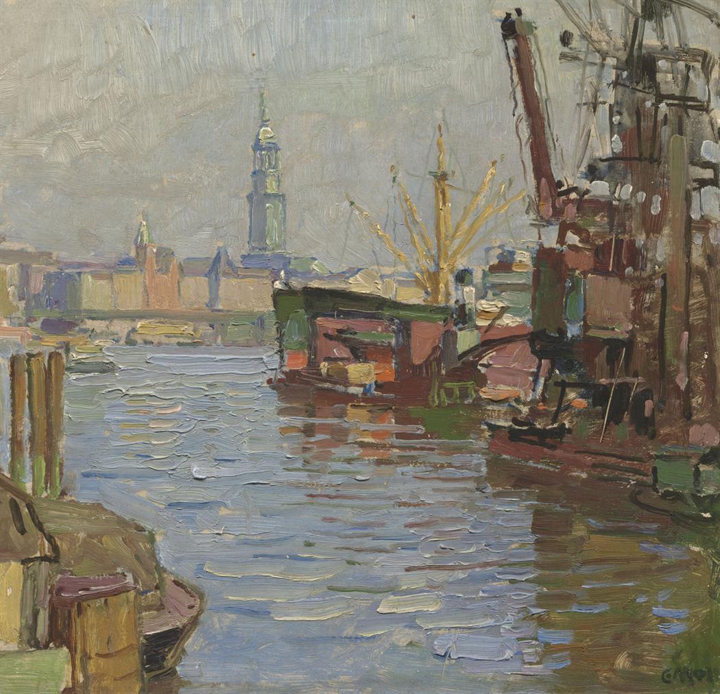 Carl Moll - Der Hamburger Hafen-1924
