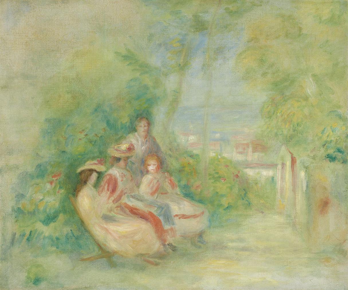 Pierre-Auguste Renoir-Jeunes Femmes Dans Un Jardin-1895