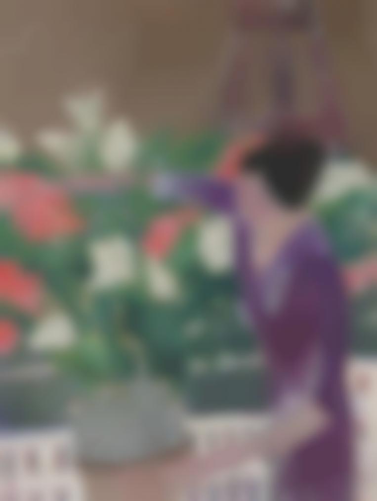 Andre Brasilier-Femme Au Bouquet Devant La Tour Eiffel-1961