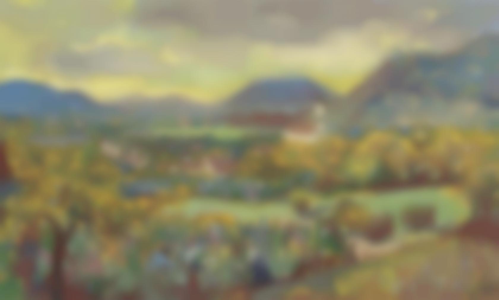 Otto Dix-Blick Auf Ohningen Und Stein Am Rhein-1947