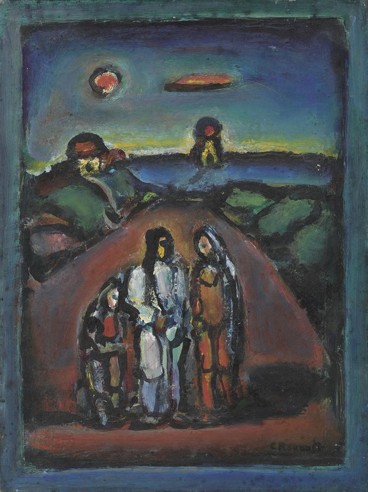 Georges Rouault-Christ Et Disciples-1944