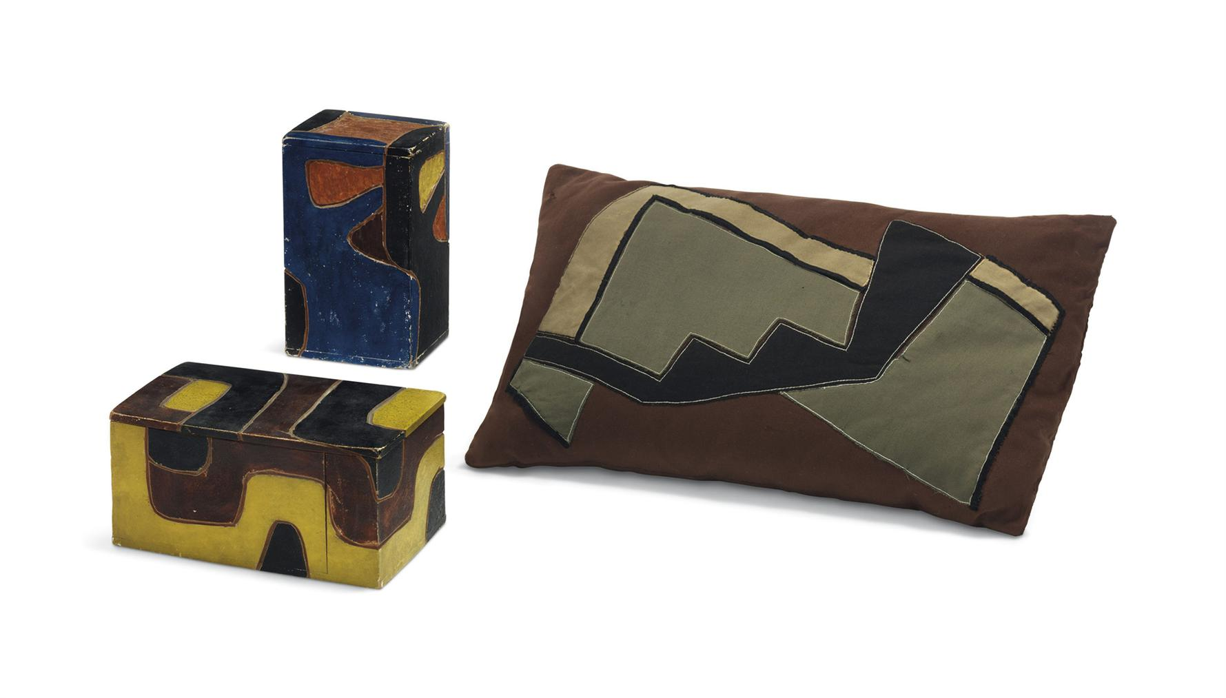 Karl Schmidt-Rottluff-Two Wooden Boxes And A Pillowcase-1911