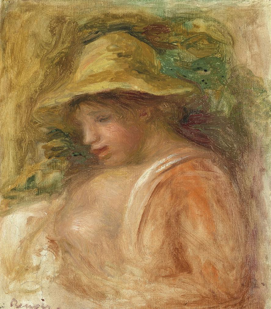Pierre-August Renoir - Femme Au Chapeau-1916