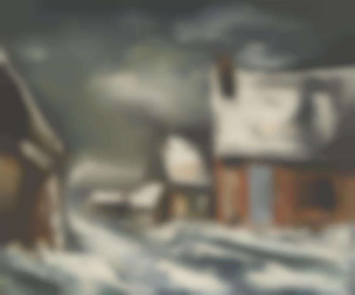 Maurice de Vlaminck-Village Sous La Neige, En Hiver-