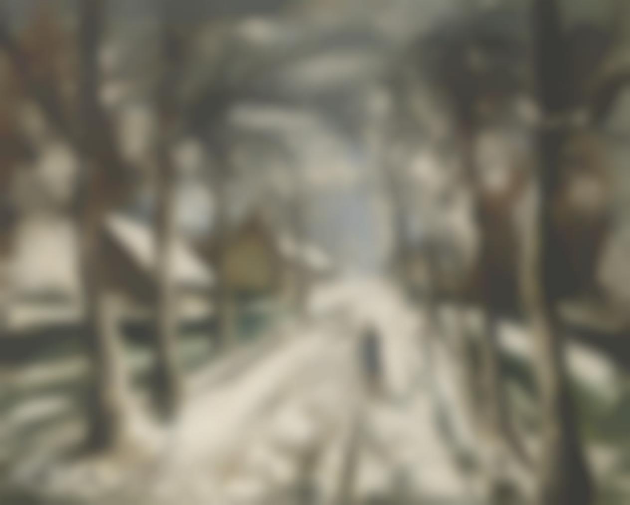 Maurice de Vlaminck-La Route Sous La Neige-