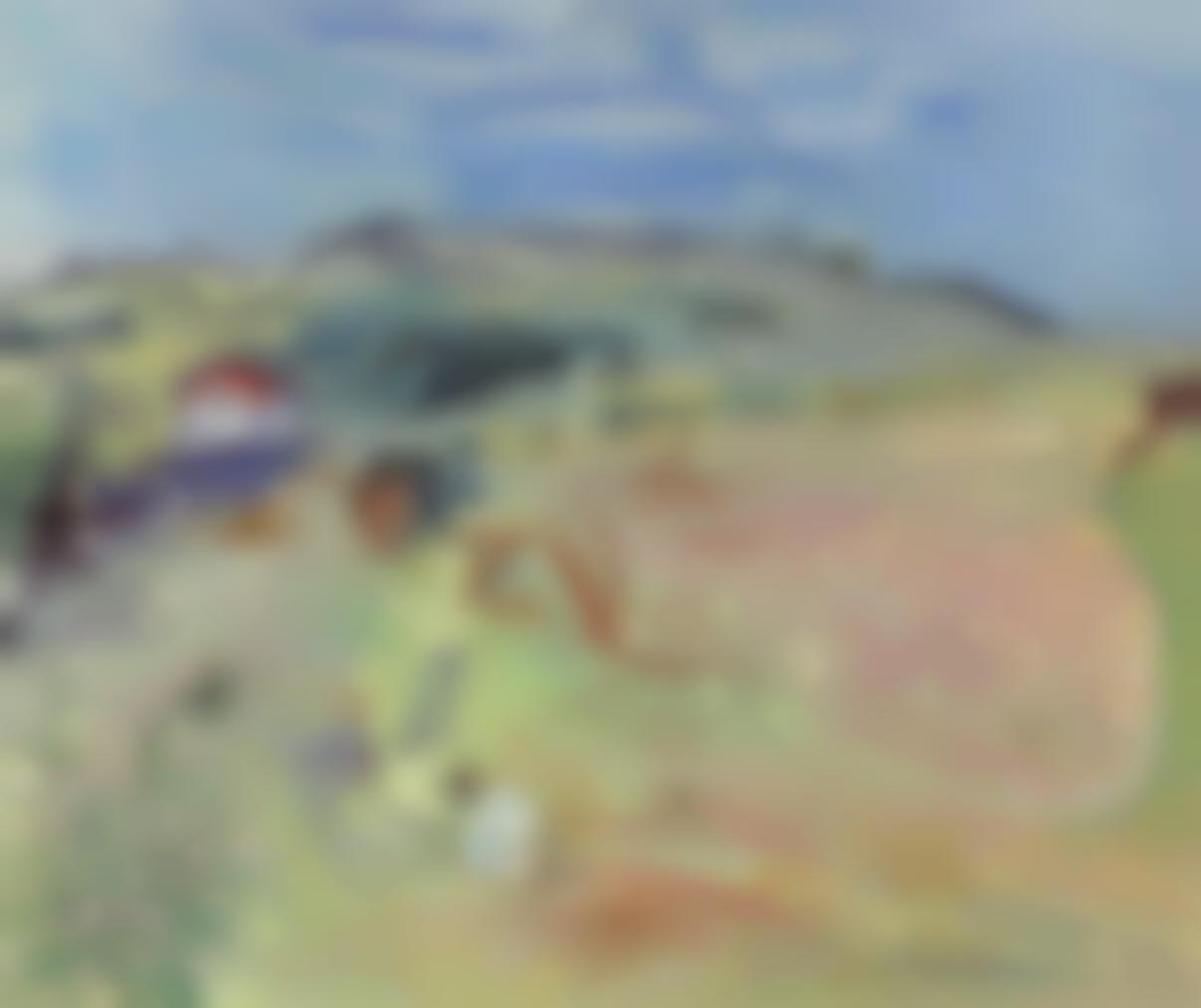 Raoul Dufy-Paysage Au Champ De Ble Aux Boeufs-1935