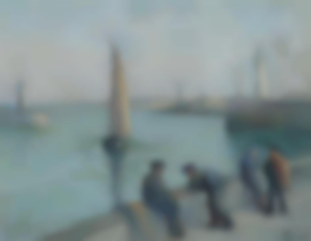 Maximilien Luce-Honfleur, Pecheurs Sur Le Port-