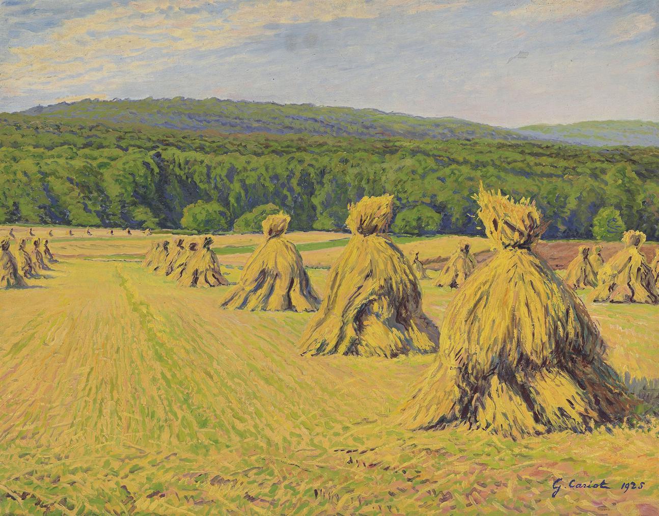 Gustave Cariot-Paysage Aux Bottes-1925