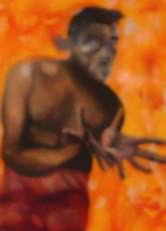 Albert Oehlen-Selbstportrait Mit Leeren Handen (Self-Portrait With Empty Hands)-1998