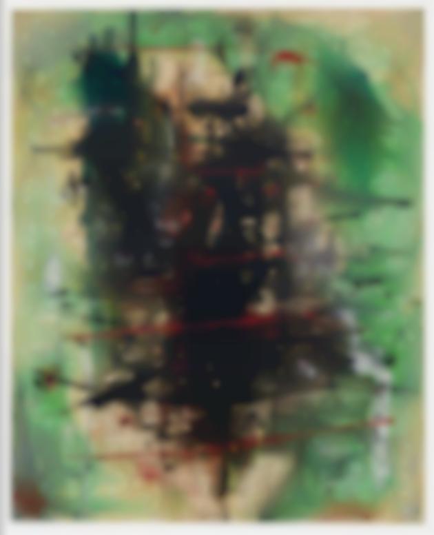Wols-Vert Strie Noir Rouge (Green Stripe Black Red)-1947