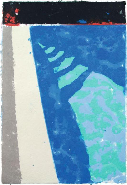 David Hockney-Steps With Shadow-1978