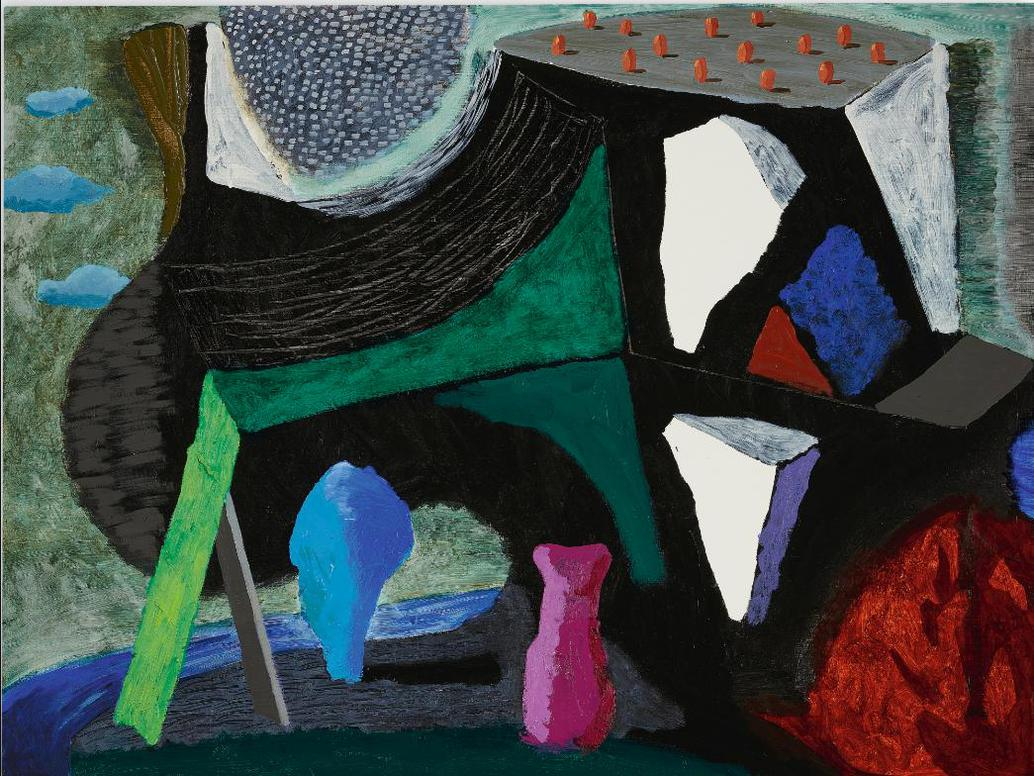 David Hockney-What About The Caves-1991