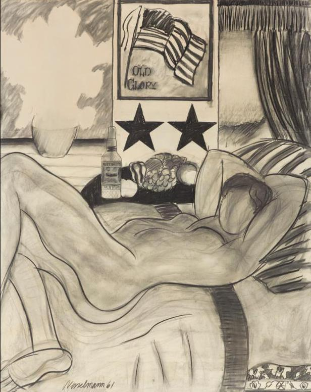 Tom Wesselmann-Drawing For Great American Nude #21-1961