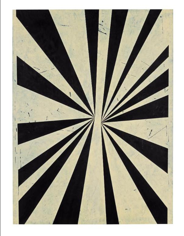 Mark Grotjahn-Untitled (Black And Cream Butterfly Negative Middle #633)-2006