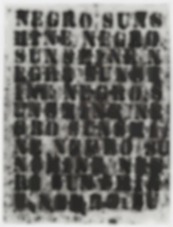 Glenn Ligon-Study For Negro Sunshine II #37-2011