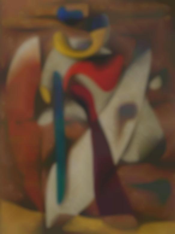 Willi Baumeister-Figur Malerisch (Picturesque Figure)-1936