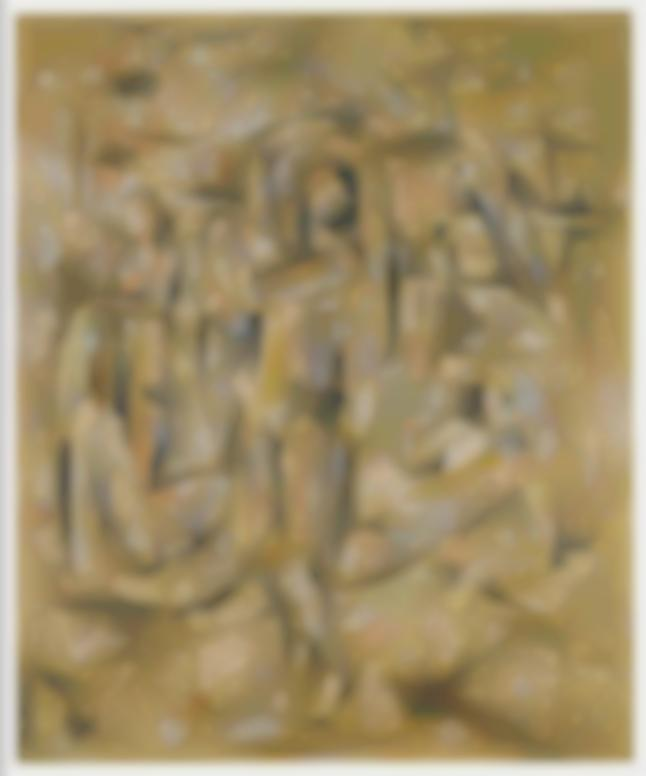 Willi Baumeister-Seilspringerin; Badende (Rope Skipper; Bather)-1913