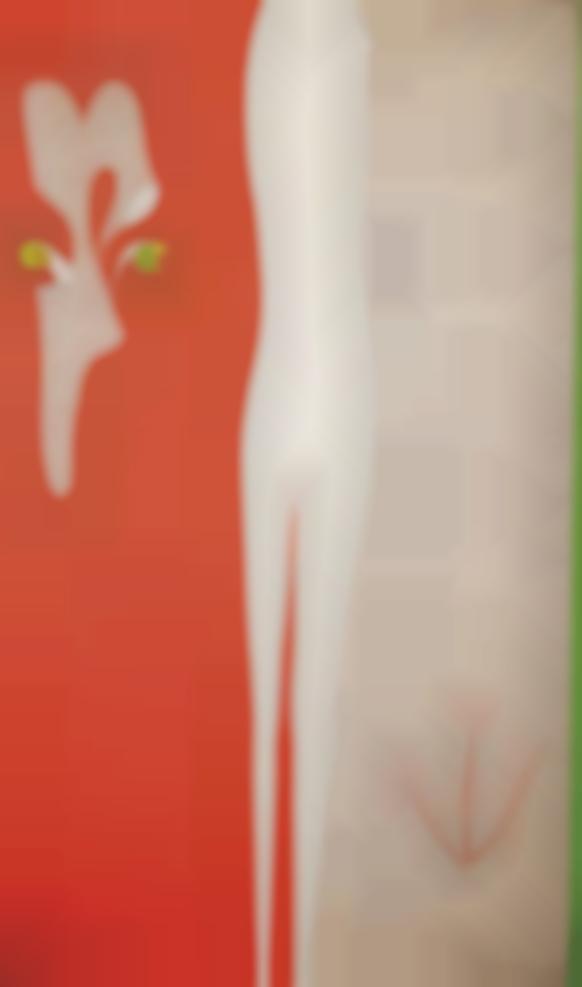 Julio Pomar-Portrait De Tereza (Rouge, Blanc, Vert, Toile Ecrue)-1975