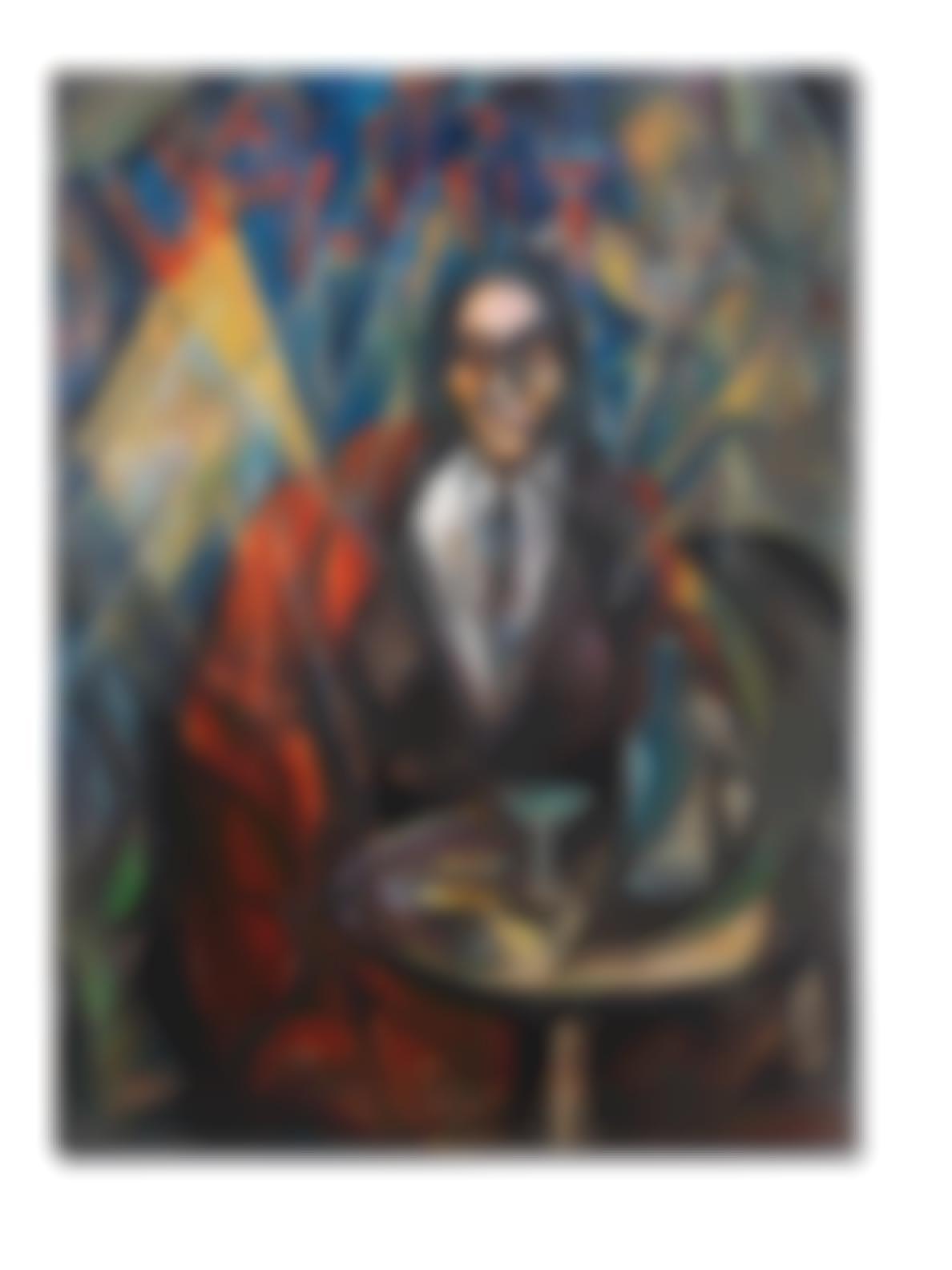 Roberto Marcello Iras Baldessari-Figura Con Mantello Rosso [Le Bistrot]-1921