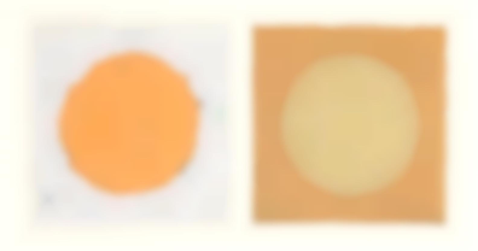 Kenneth Noland-Pairs, From The Handmade Paper Project (Diptych)-1978