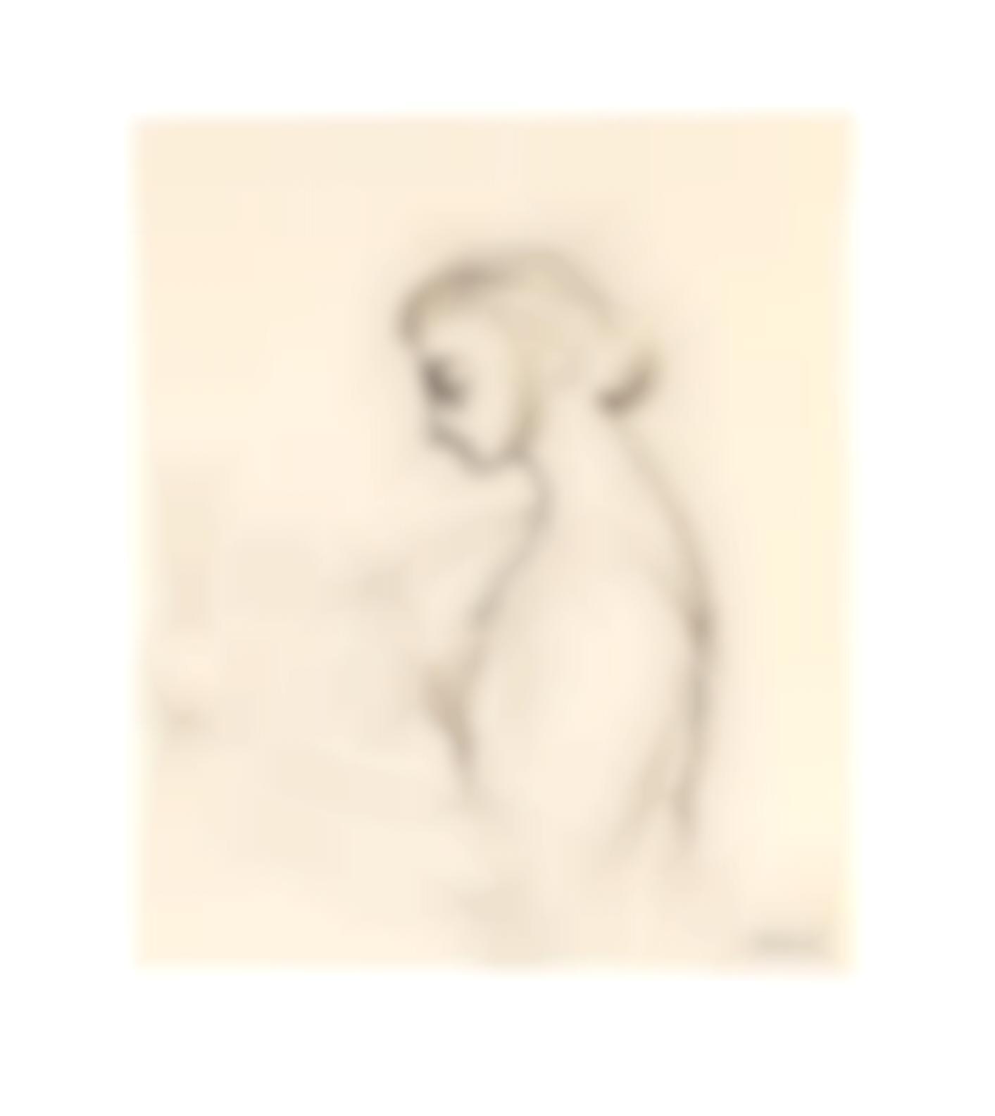Paul Delvaux-Femme A La Coupe-