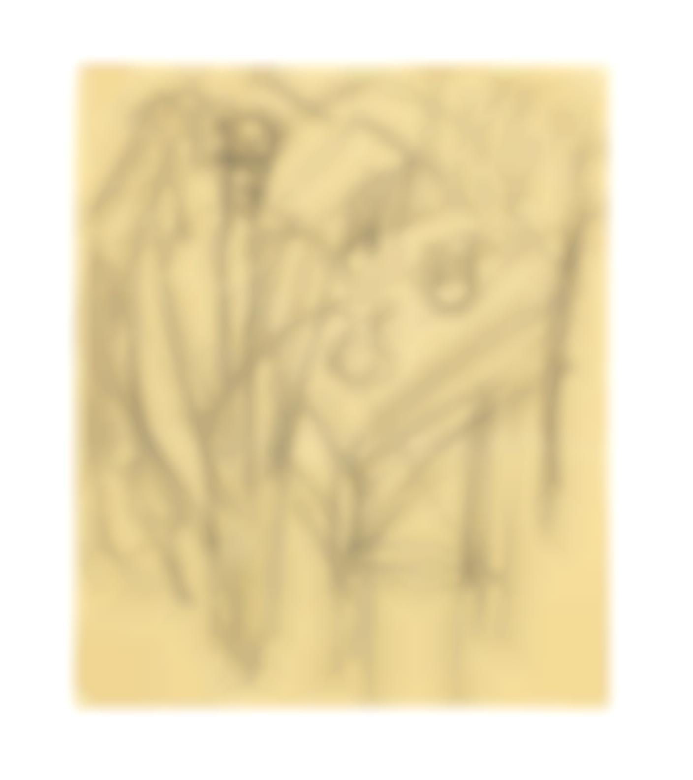 Ernst Ludwig Kirchner-Mann Am Tisch-1915