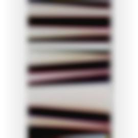 Walead Beshty-White Curl (Ymc/Fourmagnet: Los Angeles, California, February 27Th 2013, Fuji Color Crystal Archive Super Type C, Em. No. 186-016, 05313)-2014