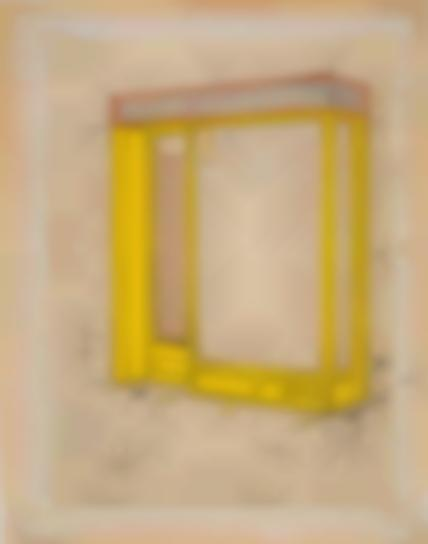 Christo and Jeanne-Claude-Store Front (Mandarin Yellow)-1965