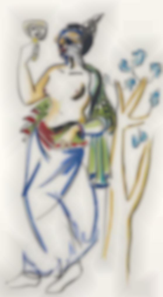 George Condo-Etruscan Study-1993