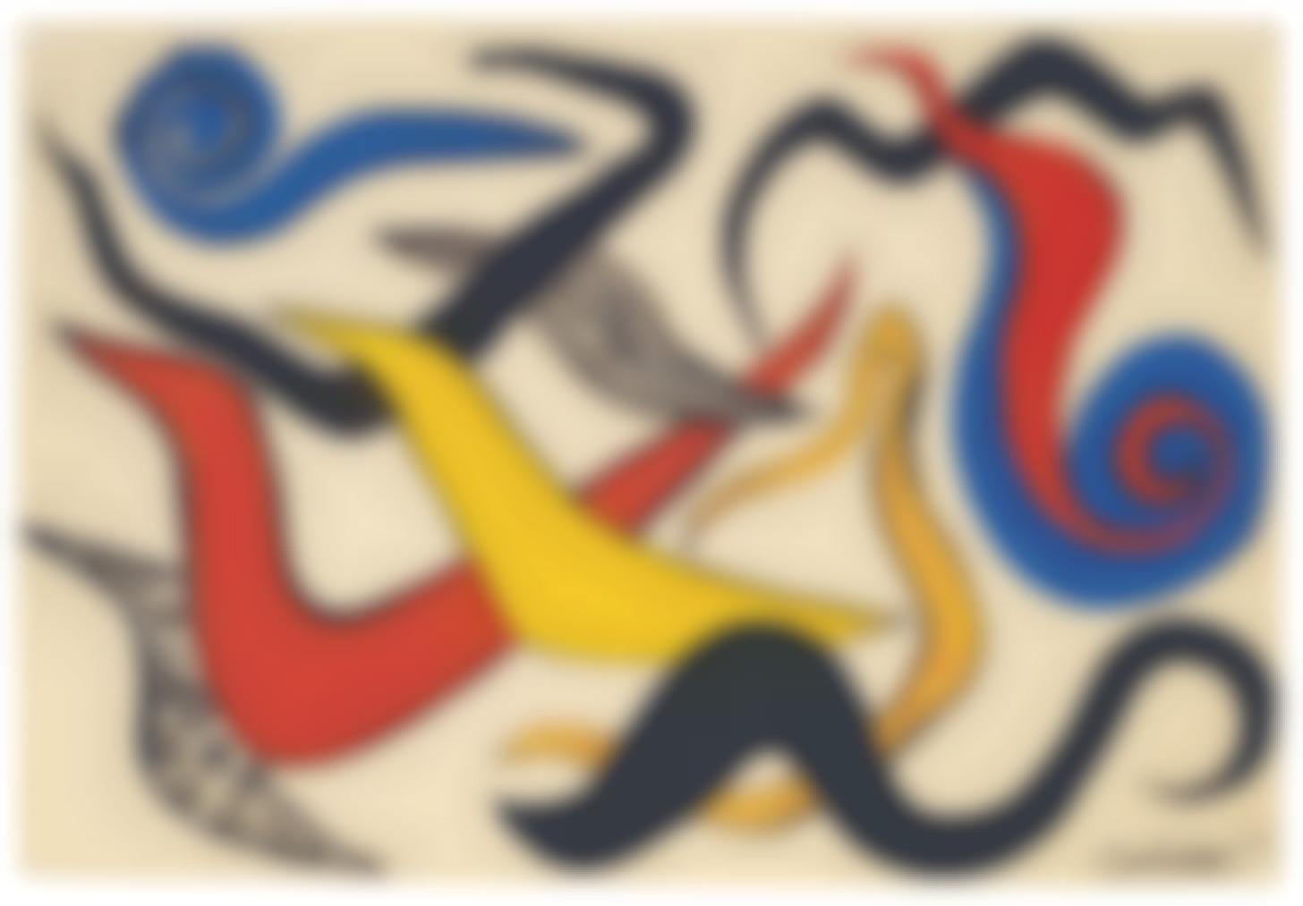 Alexander Calder-Dots, Stripes, Curliques-1974