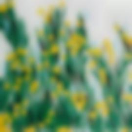 Donald Sultan-Yellow Mimosa, July 23, 2015-2015