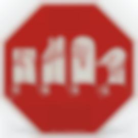 Martin Wong-Traffic Signs For The Hearing Impaired (Stop)-1990