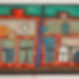 Friedensreich Hundertwasser-2 Bis 13 Schwimmende Fenste (2 To 13 Windows Afloat) (K. 76), 1979-1979